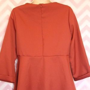 Tops - Lovely Amber Peplum Style Top Size M